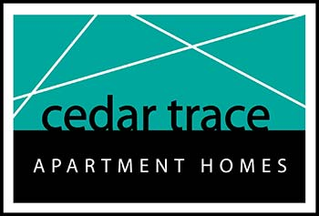 Cedar Trace Apartments logo, link to home